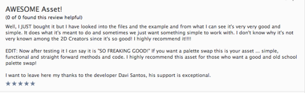 Review na Asset Store